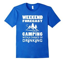 Men's Weekend Forecast Camping With A Chance Of Drinking T-Shirt  2XL Royal Blue