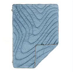 Rumpl The Original Puffy High Performance Indoor/Outdoor Camping Blanket, Slate Blue/Safety Oran ...