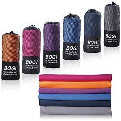"BOGI Microfiber Travel Sports Towel-(L:60""x30""+16""x16"")-Antibacterial Dr ..."