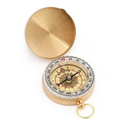 SUNFUNG Copper Clamshell Compass Waterproof Luminous Compass Camping Gear Survival Gear
