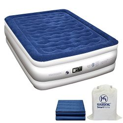 Kasonic Air Mattress Queen Size – Inflatable Airbed with Free Fitted Sheet & Carry Bag ...