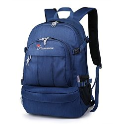 Mountaintop Casual Backpack Daypack for Travel Hiking School Camping (Royalblue- 25L)