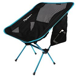 FBSPORT Camping Chair Portable Lightweight Folding Cackpacking Chair and Camping Table for Hikin ...