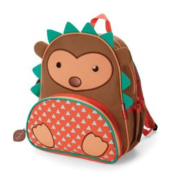 Skip Hop Zoo Toddler Kids Insulated Backpack Hudson Hedgehog Boy, 12-inches, Brown