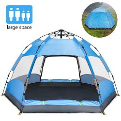 Ylovetoys Camping Tent, Double Layer Family Camping Tents, Instant Pop Up Double-Uses Beach Tent ...