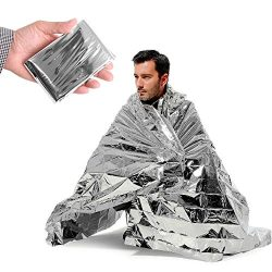 Emergency Silver Mylar Thermal Compact Waterproof Blankets for First Aid Kits, Natural Disasters ...