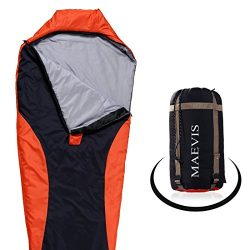 Maevis all Season 330GSM Sleeping Bag Envelope Mummy Lightweight Portable Waterproof with Compre ...