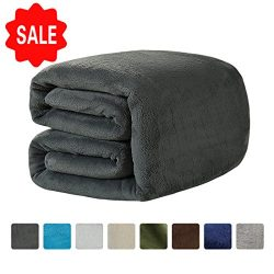 LEISURE TOWN Fleece Blanket Queen Size Soft Summer Cooling Breathable Luxury Plush Travel Campin ...
