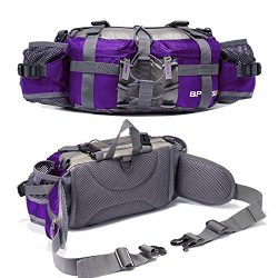 YUOTO Outdoor Fanny Pack Hiking Camping Cycling Hunting Fishing Waist Pack 2 Water Bottle Holder ...