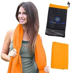 Microfiber Quick Dry Travel Towel Best Lightweight & Sports Towel for Beach, Fitness, Gym, Y ...
