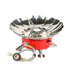 Camping Gas Stove, Willor Portable Collapsible Windproof Backpacking Gas Stove with Piezo Igniti ...