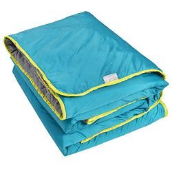 Lightspeed Outdoors Sundown Camp Blanket, Ripstop, Fluffy Down Alternative, Packable, 77″  ...