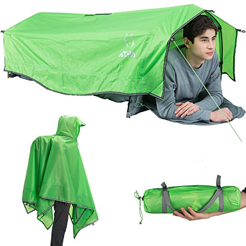 ATEPA Lightweight Compact Single 1 Person Bivy Tent Sack Waterproof for Backpacking Camping Mili ...