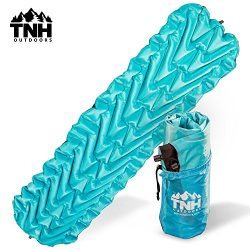 TNH Outdoors Lightweight Compact Sleeping Pad With Dual Baffle System And Superior Insulation Ex ...