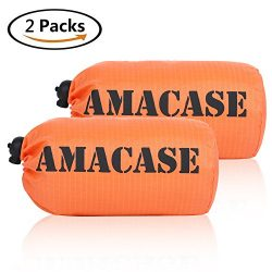 AMACASE [2 Packs] Life Bivy Emergency Survival Sleeping Bag – Mylar Emergency Blanket with ...