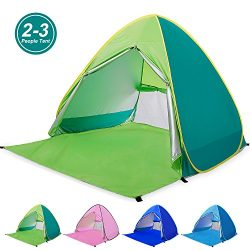 Amagoing Automatic Pop Up Beach Tent 2-3 Person Cabana Sun Shelter Great for Outdoor Activities  ...