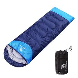 Camel Outdoor Camping Sleeping Bag Lightweight Portable Waterproof Perfect Traveling Hiking Acti ...