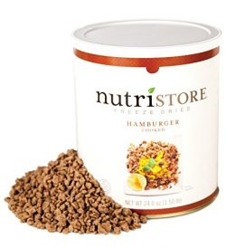 Freeze Dried Ground Beef by Nutristore | Premium Quality | USDA Inspected | Amazing Taste | Perf ...
