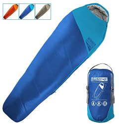 WINNER OUTFITTERS Mummy Sleeping Bag with Compression Sack, It's Portable and Lightweight  ...