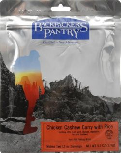 Backpacker's Pantry Chicken Cashew Curry, Two Serving Pouch, (Packaging May Vary)