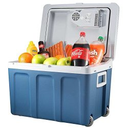 K-box Electric Cooler and Warmer for Car and Home with Wheels – 48 Quart (45 Liter) – ...