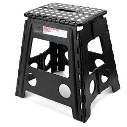 Acko 16 Inches Super Strong Folding Step Stool with handle for Adults and Kids, Kitchen Stepping ...