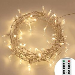 Koopower [Remote and Timer] 29.5ft 80 LED Outdoor Battery Fairy Lights (8 Modes, Dimmable, IP65  ...