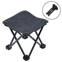 Mini Portable Folding Stool, Outdoor Folding Chair for Camping, Picnic, Fishing, Travel, Hiking, ...