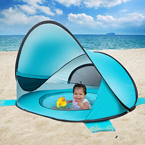 WolfWise Easy Pop Up Beach Tent Instant Sun Shelter Tent