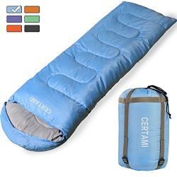 CERTAMI Sleeping Bag -Envelope Lightweight Portable Waterproof,for Adult 3 Season Outdoor Campin ...