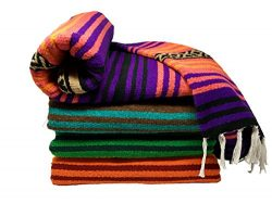 Spirit Quest Supplies Bodhi Blanket Mexican Style Throw Blanket – Falsa Blanket for Yoga,  ...