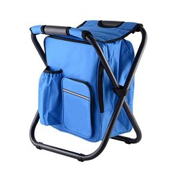 Backpack Chair,Multi-Functional Folding Camping Chair Stool/Camouflage Seat Backpack with Cooler ...