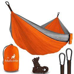 MalloMe Double Portable Camping Hammock – 27 Colors – Heavy Duty Tree Straps Include ...