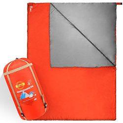 JBM Double Sleeping Bag 5Colors 0℃/30℉ for All Seasons Waterproof and Repellent Printed Pattern  ...