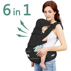 Windsleeping Toddler Baby Carrier with Hood for All Seasons,6-in-1 Ways to Carry,Hip Seat Carrie ...