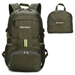 BONLEX Travel Backpack,Foldable Backpac,Packable Daypack – 35L Durable Ultra Lightweight W ...