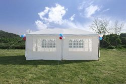 GOJOOASIS Improved Version Canopy Tent Wedding Party Tent with Metal Connectors Outdoor Gazebo H ...