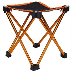 Fishing Chair Portable Folding Seat Durable Camping Stool with Carry Bag for Picnic Hiking Trave ...