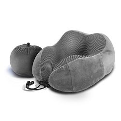 LUXSURE Travel Pillow Soft Memory Foam U Shape Soft Portable Neck Pillow Air Pillow For Plane Tr ...