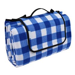 OUTCAMER Large Waterproof Outdoor Picnic Blanket, Portable Folding Picnic Blanket Mat with Tote  ...