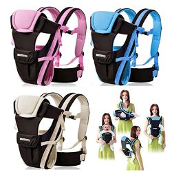 CdyBox Adjustable 4 Positions Carrier 3d Backpack Pouch Bag Wrap Soft Structured Ergonomic Sling ...