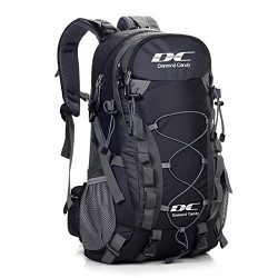 Diamond Candy Hiking Backpack 40L Waterproof Outdoor Lightweight Travel Black Backpacks for Men  ...
