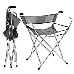 Frehsore Walking Stick Folding Cane Seat for Women/Men 300 lbs with Heavy Duty – Walker Ch ...