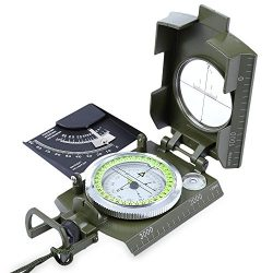 X-CAT Water Resistant Luminous Camping Prismatic Compass with Pouch Military Army Travel Geology ...