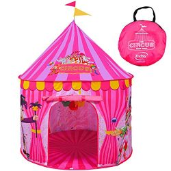 Play Tent For Kids: Vibrant Pink' Toy Circus Tent In Sturdy Carrying Bag| Durable, Lightweight & ...