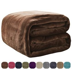 VEEYOO Luxury Flannel Fleece Blanket – Extra Soft Summer Cooling Warm Lightweight Bed Blan ...