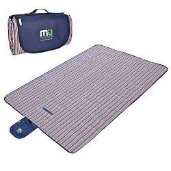 MIU COLOR Large Waterproof Outdoor Blanket, Sandproof and Waterproof Picnic Blanket Tote for Cam ...
