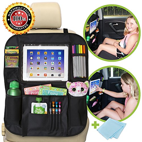 Car Backseat Organizer for Kids with iPad & Tablet Holder, Storage for Toys, Wipes & Bot ...