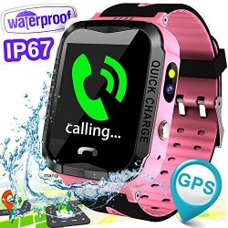 Kid Smart Watch Phone GPS Tracker IP67 Waterproof for Girls Boys with SIM Fitness Tracker with S ...