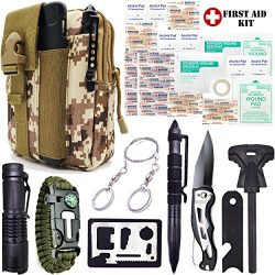Everlit Emergency Survival Kit 35-In-1 Molle Tool Pouch, Tactical Outdoor Gears, First Aid Suppl ...